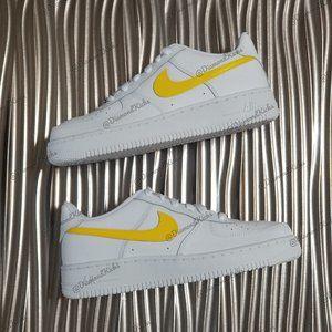 Custom Nike Air Force 1 Custom White Yellow